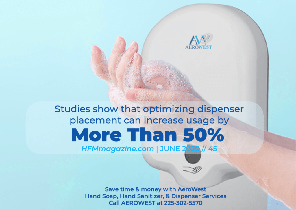Studies show that optimizing dispenser placement increases hand cleaning by more than 50%